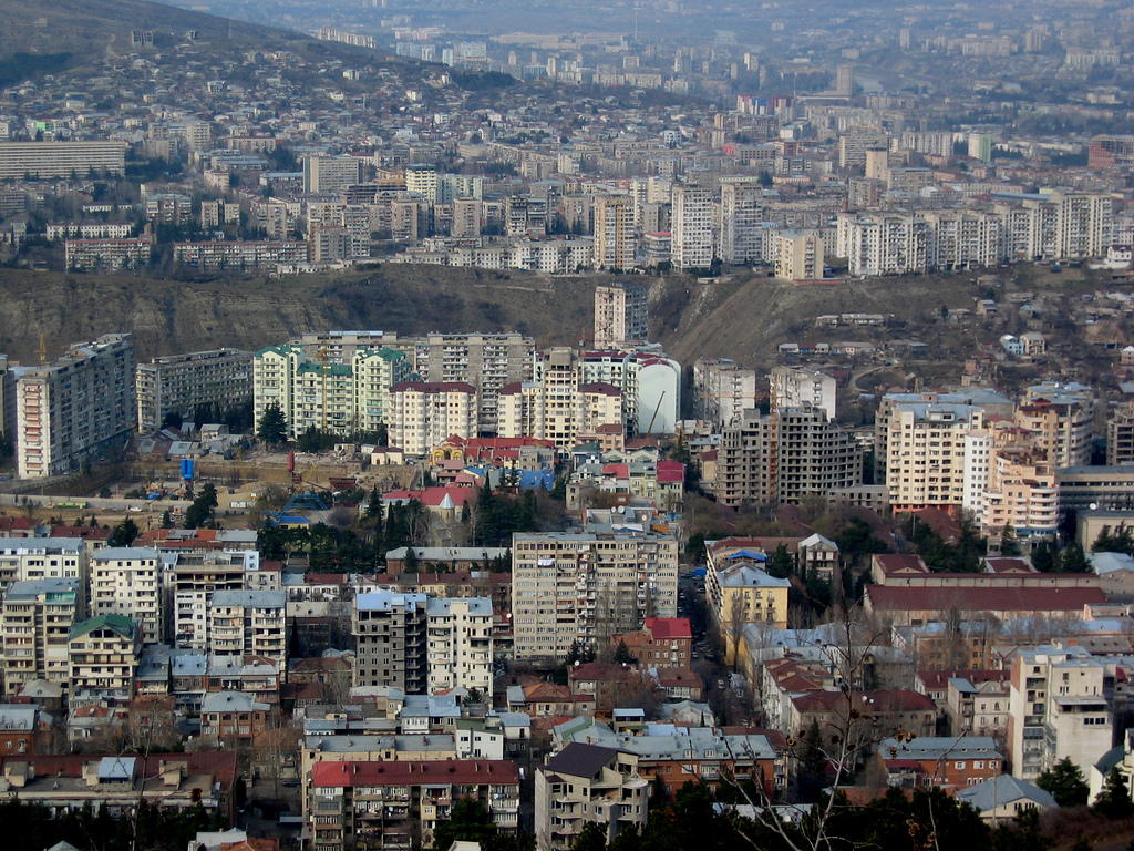 Arial View of Tbilisi