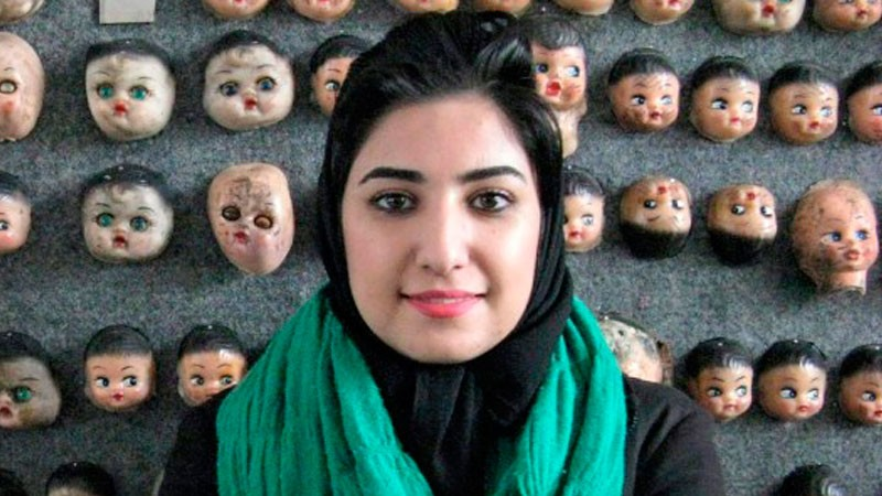 Atena Farghadani stands trial on Tuesday, May 18, for charges that include insulting members of parliament and spreading propaganda against the government. Photo: Free Atena's Facebook page.