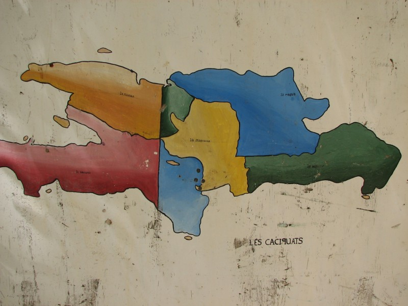 Map of Haiti and the Dominican Republic; image by Jay Clark, used under a CC BY 2.0 license.