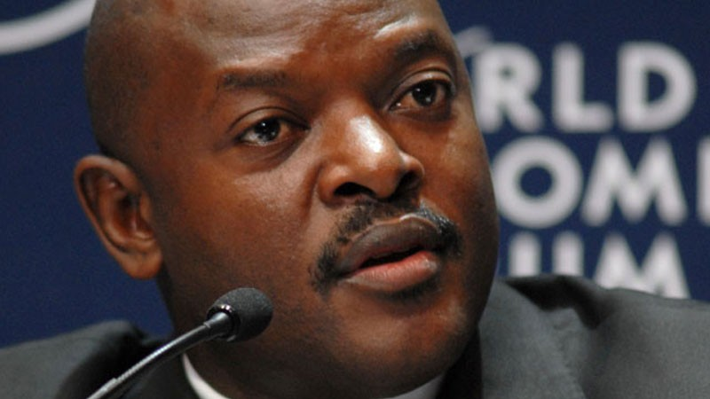 Burundian president Pierre Nkuruzinza. Photo released under Creative Commons by the World Economic Forum.