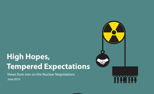"Image from ICHRI's new report "" High Hopes, Tempered Expectations: Views from Iran on the Nuclear Negotiations."""
