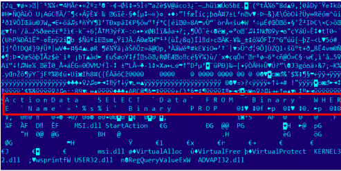 "A screenshot of the windows installer files used by Duqu 2.0. Kaspersky explains this to be a ""malicious stub"" in their technical report."