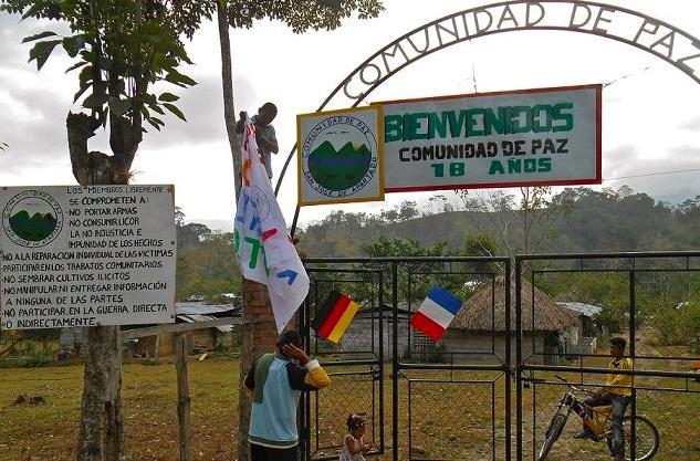 The Peace Community of San José de Apartadó celebrated its 18th Anniversary in March 2015. (Nikki Drake)