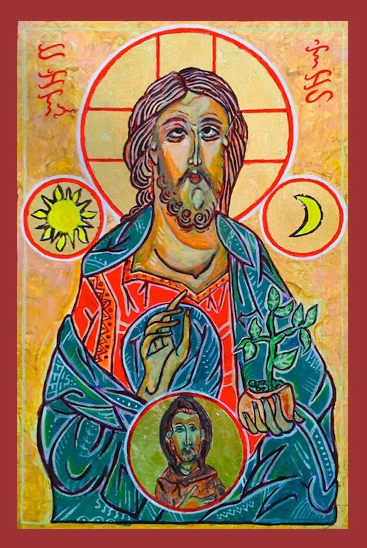 The icon 'Jesus of Creation' was made by a Filipino Catholic priest in response to the publication of Pope Francis' encyclical on the environment 'Laudato Si'