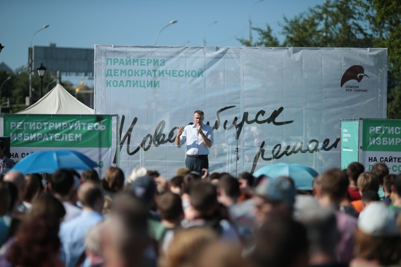 Navalny in Novosibirsk, June 7, 2015. Photo by Alexey Konstantinov. Navalny.com.
