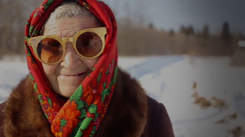 Screencap from the crowdfunding video for the local honey venture in a Russian village. Image from Boomstarter.ru.
