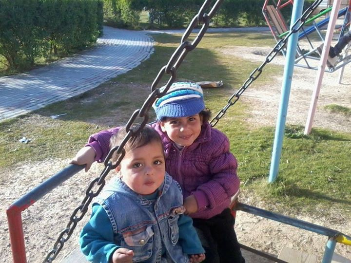 Sahir with his sibling (Source: Electronic Intifada). The image of Sahir's death is too brutal to show here.