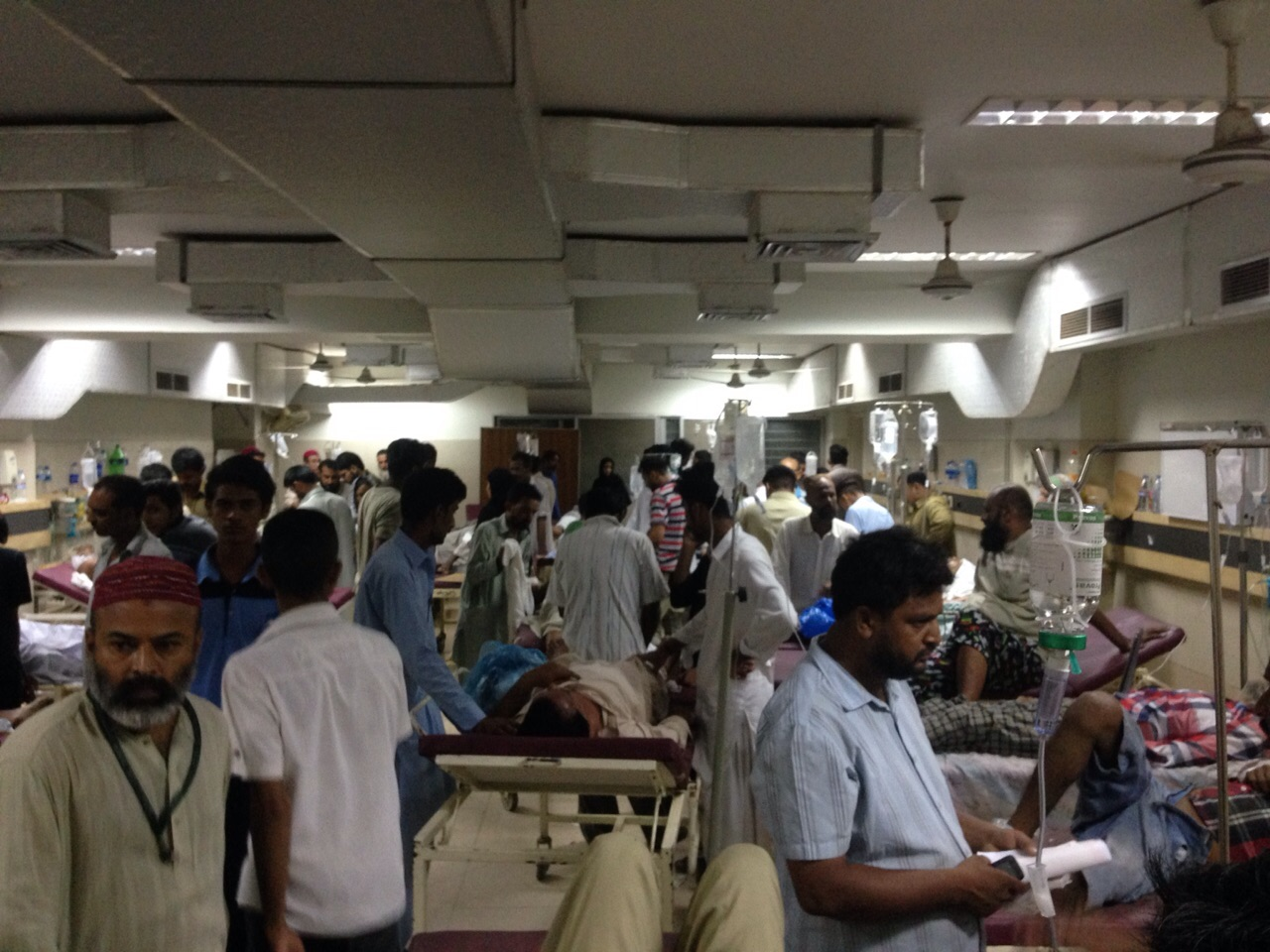 """Non stop heat stroke patients brought in to JPMC Emergency"" Posetd on Tasneem Butt's Facebook page on June 22."