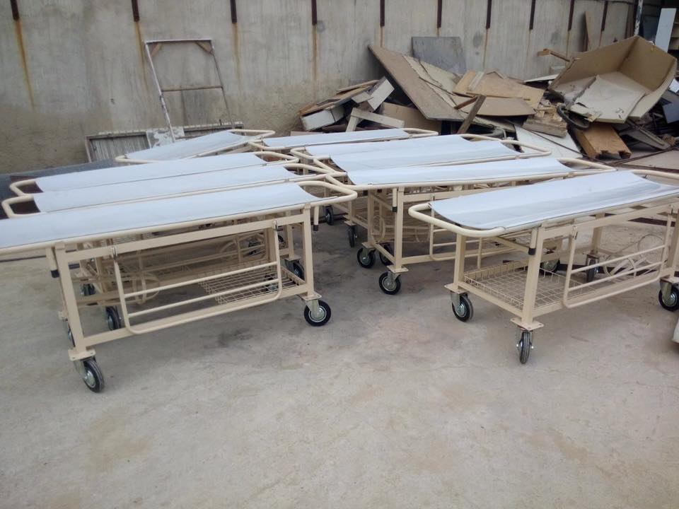 """Stretchers were in short supply. Got these through a silent donor with efforts of our champion volunteer Fahad Asadullah"""
