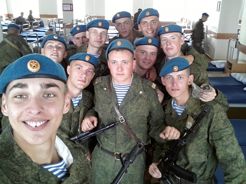 Two of these men died hours after this photo was taken in a Russian barracks that partially collapsed. Photo from Sergei Filatov's social media page, via Elena Rykovtseva. Facebook.