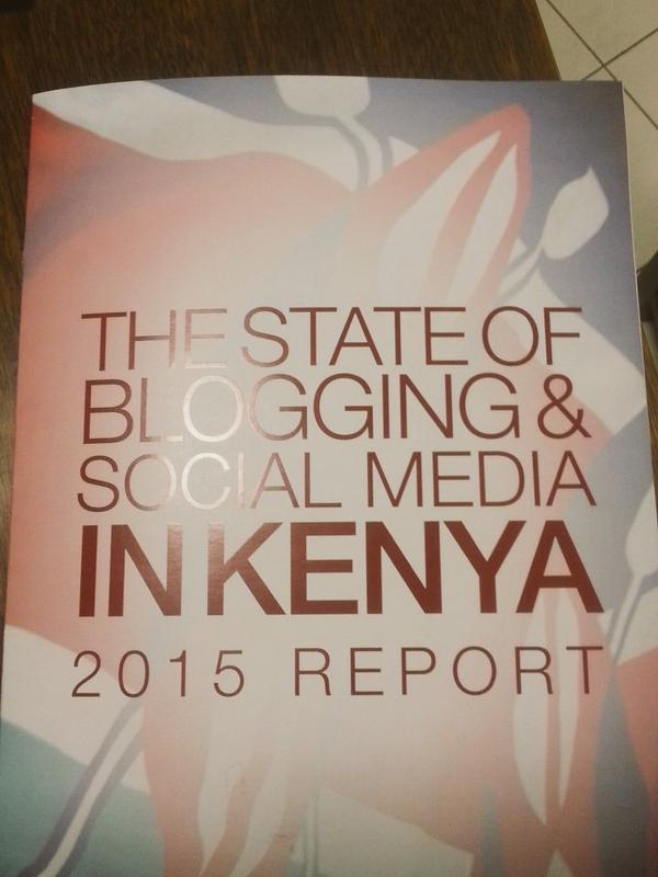 The cover of The State of Blogging and Social Media in Kenya 2015 Report.