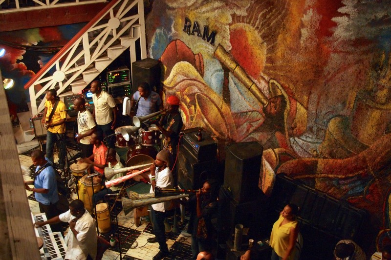 RAM Party Inside Haiti's Historic Hotel Oloffson; photo by Steve Bennett, used under a CC BY-NC 2.0 license.