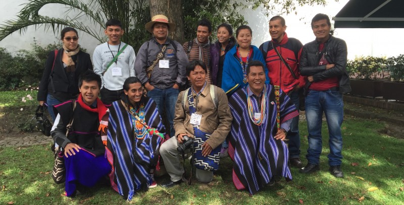 Participants of the Gathering of Indigenous Language Digital Activism held in Bogotá, Colombia 18-19 of June.