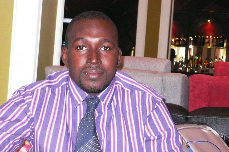 Sanna Camara, Gambia journalist living in exile in Senegal [Image used with his permission]