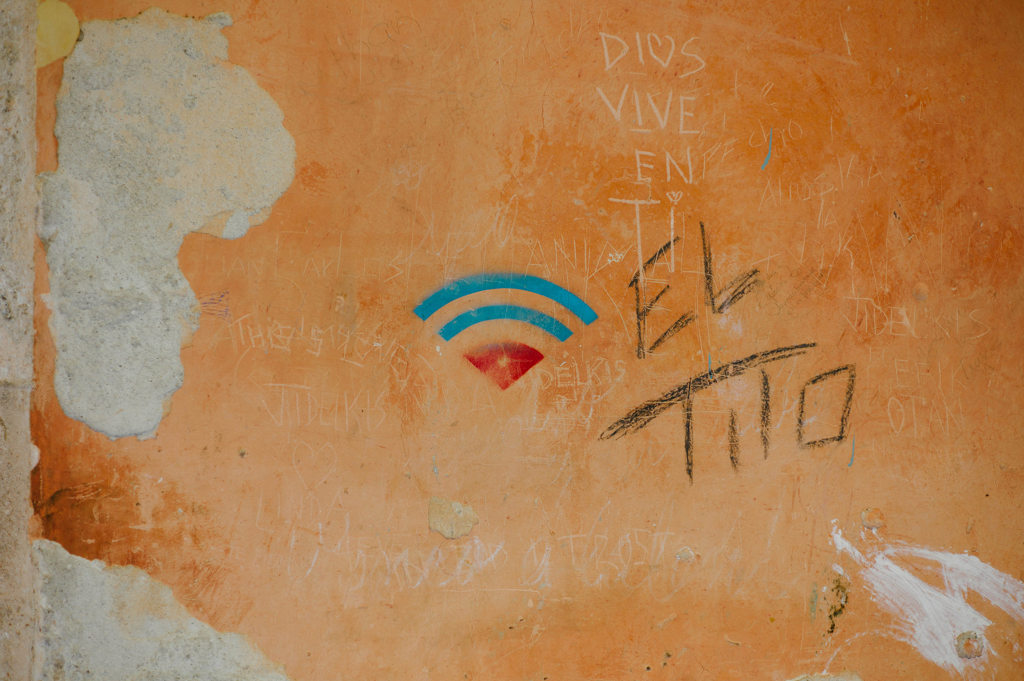 A WiFi symbol in Old Havana, Cuba. Photo by Nano Anderson, taken from Flickr under a CC License BY 2.0.