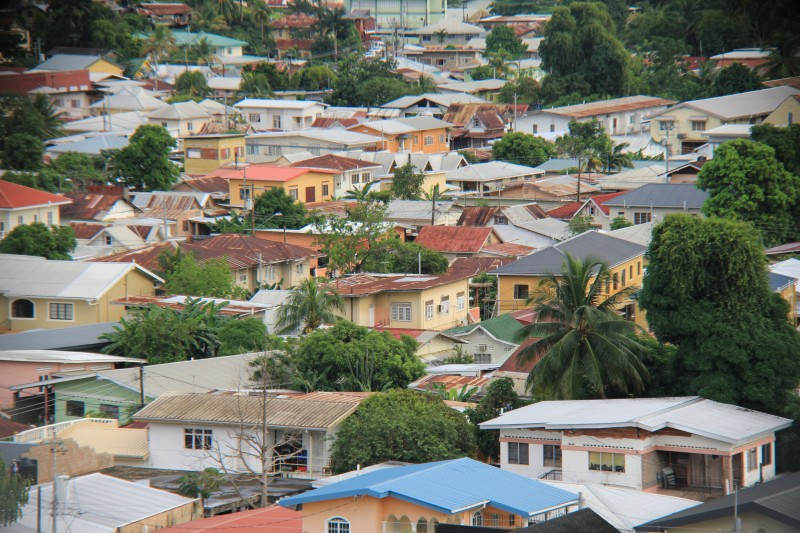 """Belmont rooftops""; image by (ha)SanMan_ish, used under a CC BY-NC 2.0 license. Belmont is the Port of Spain suburb to which one of the escaped prisoners was reportedly trying to flee."