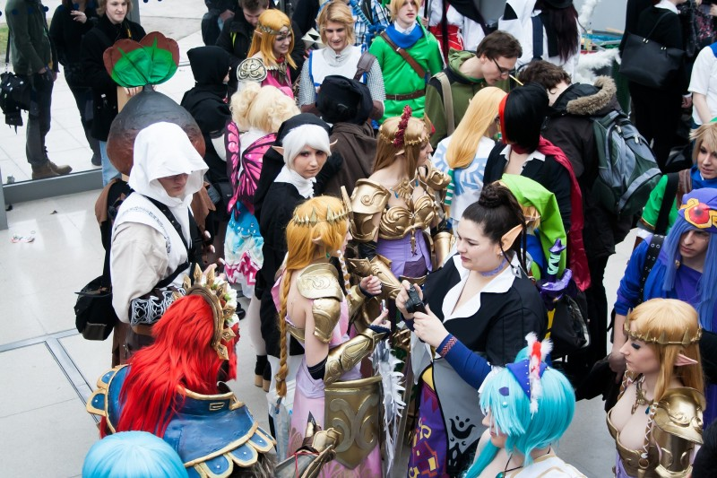 cosplayers in europe