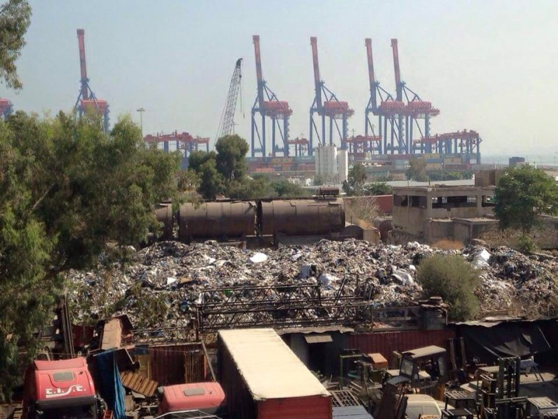 "Mountains of trash in Beirut. Photograph from the the official Facebook page of ""You Stink"" movement"