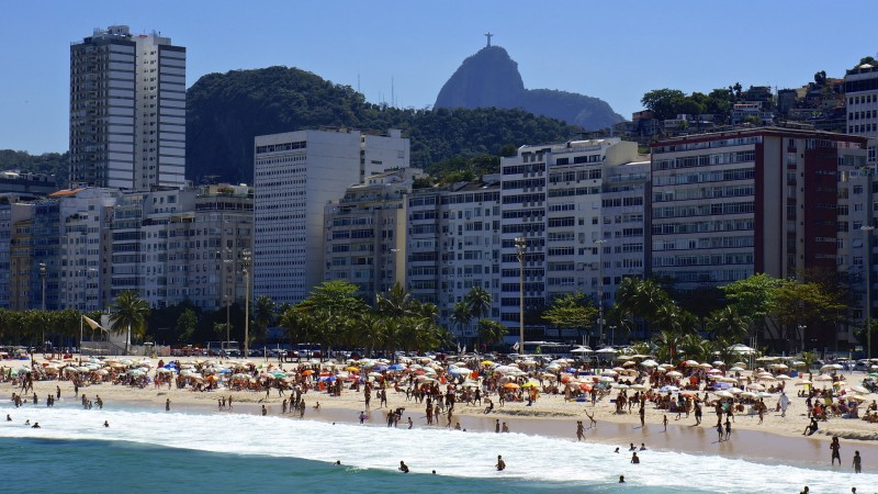 Rio de Janeiro's Leme Beach, in the wealthy South Zone area. Photo: Flickr user armandolobos CC-BY-NC-SA