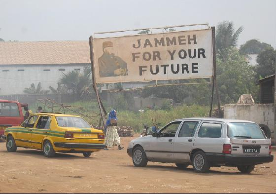 Pro-Jammeh billboard in The Gambia. Photo by Atamari via Wikimedia (CC BY-SA 3.0)