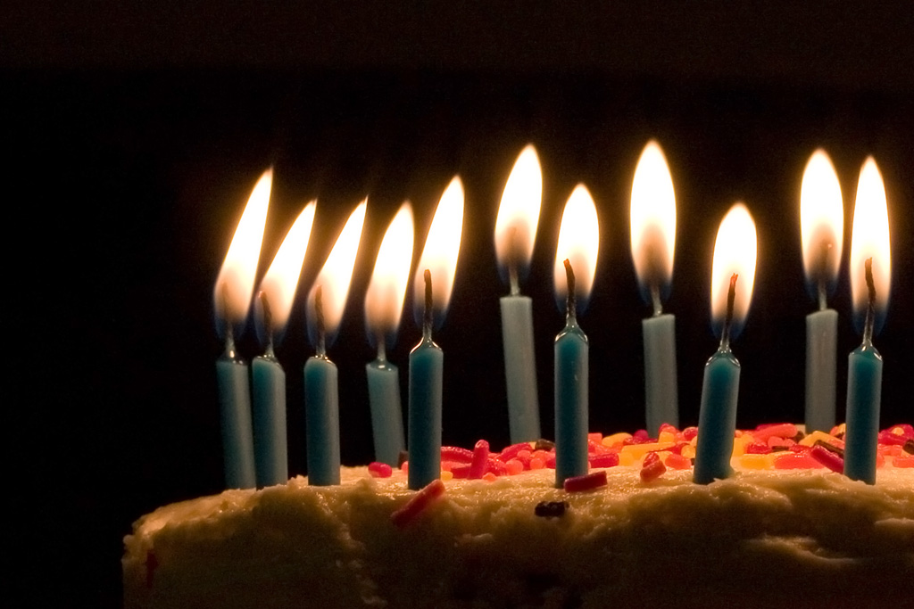 """We did not blow out the candles because there was no electricity."" PHOTO: Joey Gannon via Wikimedia Commons"
