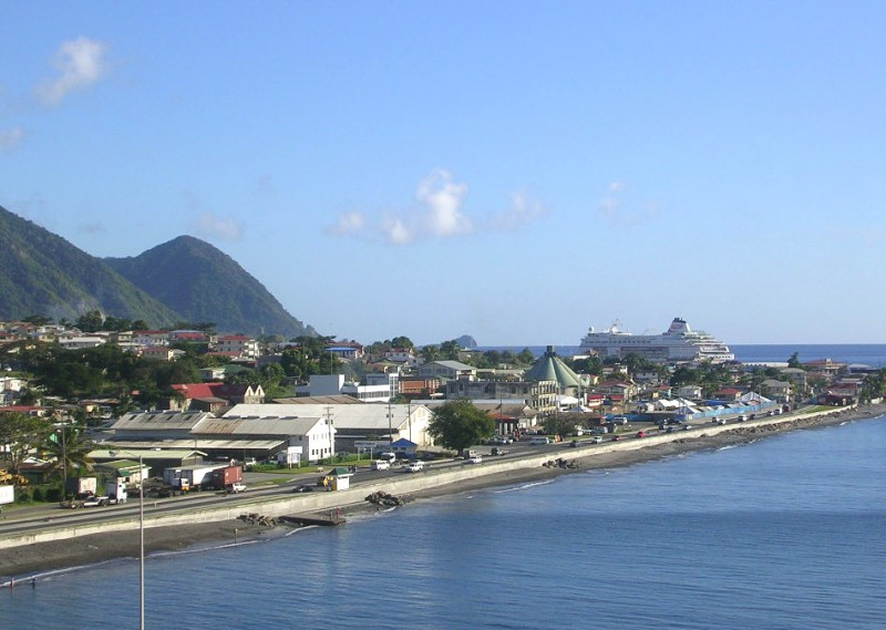 Roseau, Dominica's capital, in 2006. Photo by Roger W, used under a CC BY-SA 2.0 license.