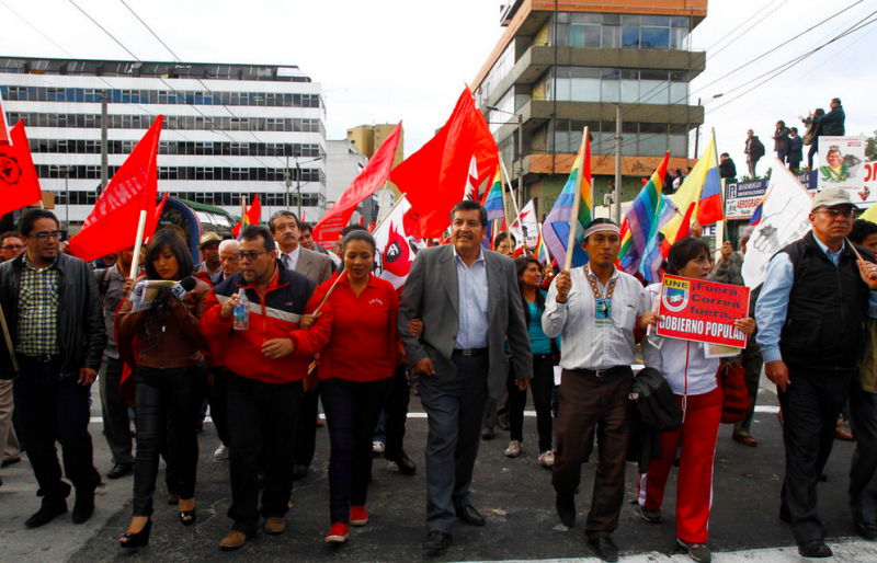 Citizens demonstrate against President Correa in Quito. Photo by Agencia de Noticias ANDES via Flickr (CC BY-SA 3.0)