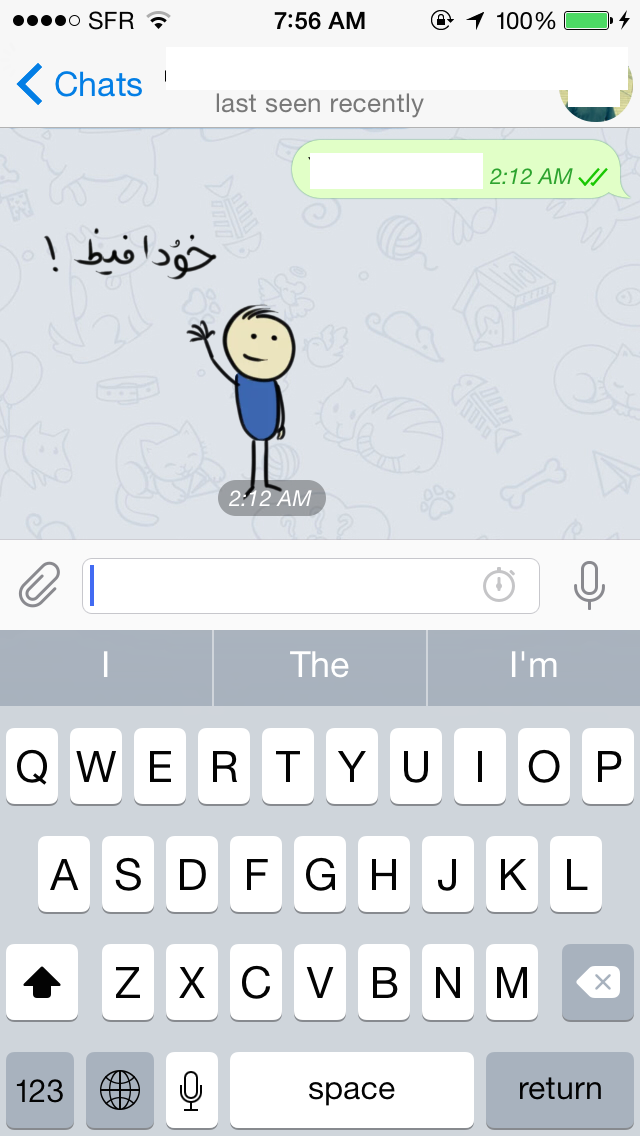 An example of custom Persian language stickers that are used by Telegram's Iranian users. Image from author.