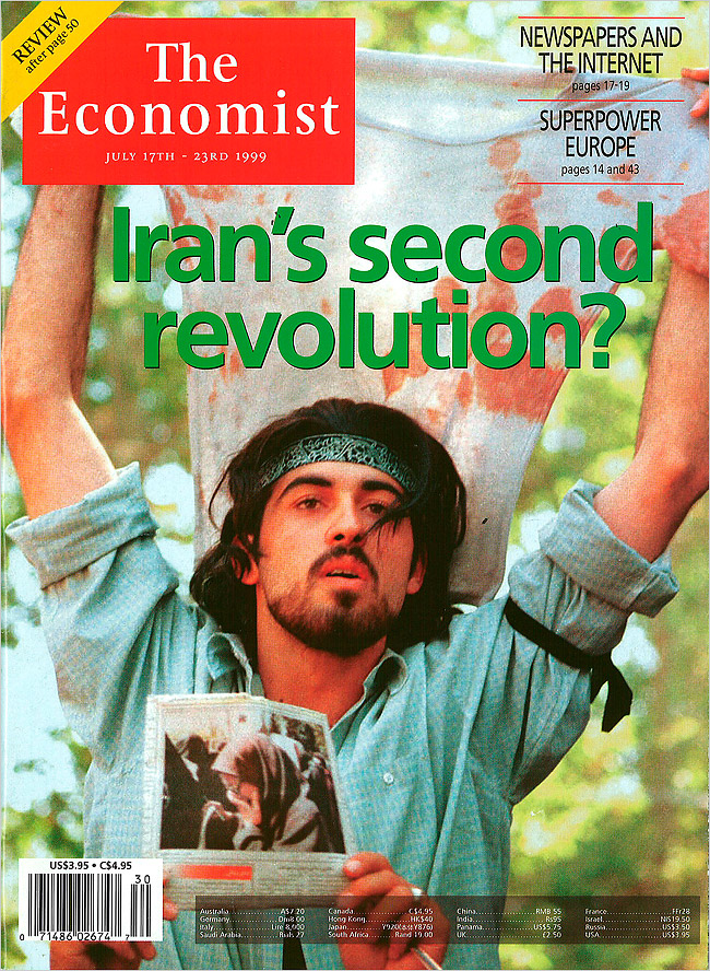 Ahmad Batebi became an icon of dissidence in Iran when he was featured on the cover of The Economist with his classmates bloodied shirt during the 1999 student protests.