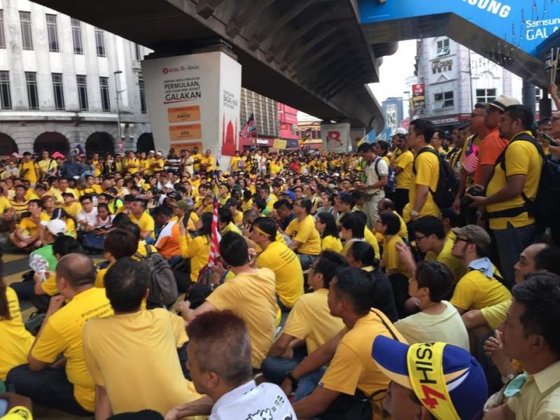 Bersih 4 rally in Kuala Lumpur. Photo from the Facebook page of Bersih 4