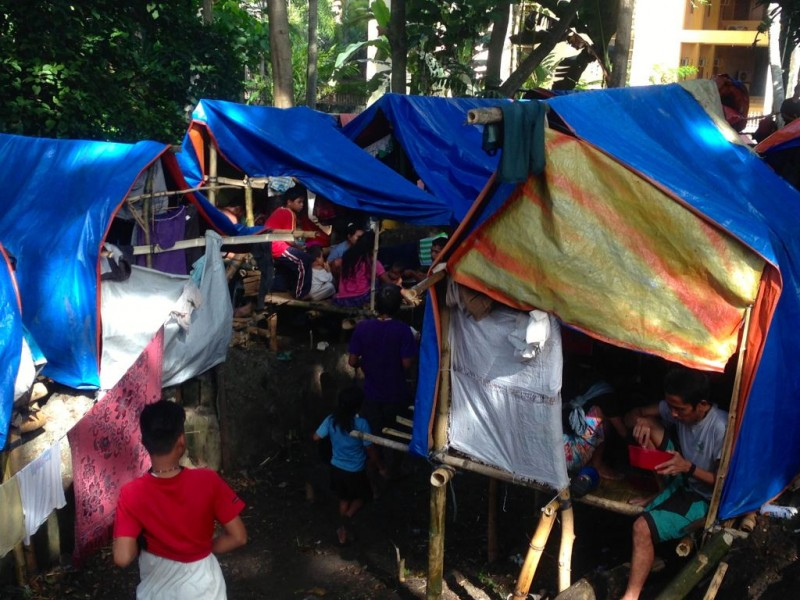 Displaced Lumad in Haran, Davao City. Photo by Inday Espina-Varona.