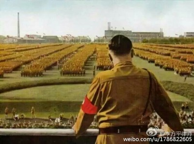 The image showing Hitler's military parade has been circulating on Chinese social media since early August as a subtle comment to the upcoming parade.