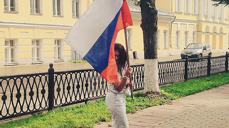 Olga Borisova in Kostroma. Photo used with permission.