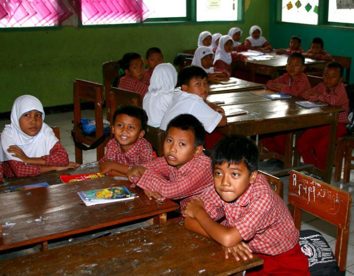 Students in Karawang, Indonesia. Photo from Public Domain Images