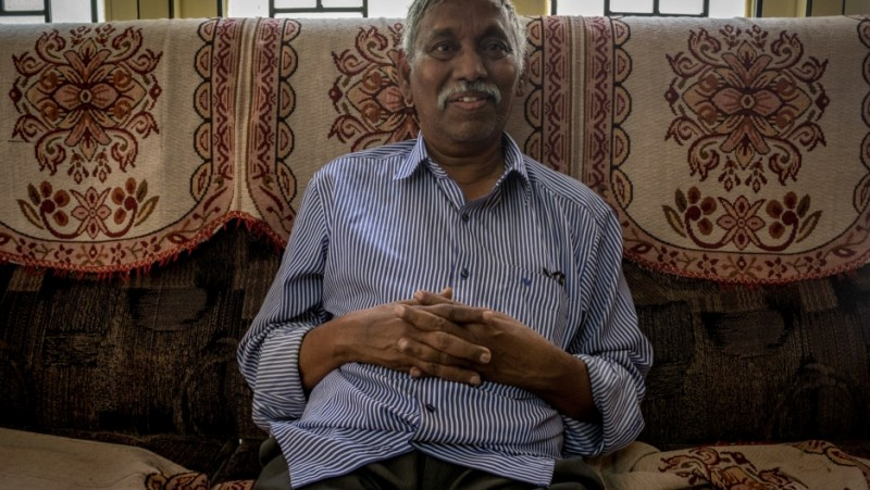 Dr. Aaraveeti Ramayogaiah, a government doctor in the Indian state of Andhra Pradesh, says he wrote 27 thousand postcards about preventive medicine during his career. Credit: Rahul M