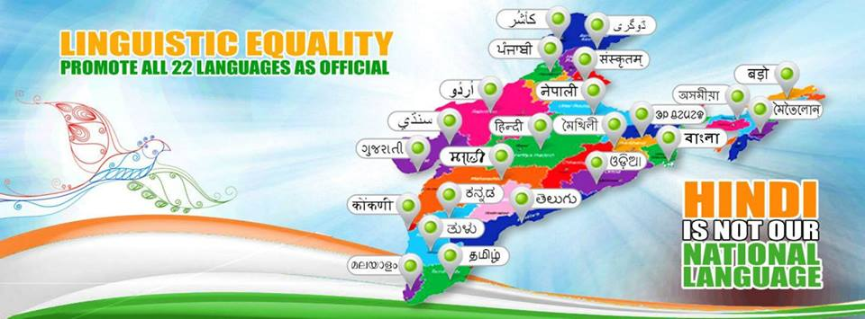 Image courtesy Bengaluru based Promote Linguistic Equality Facebook Page.