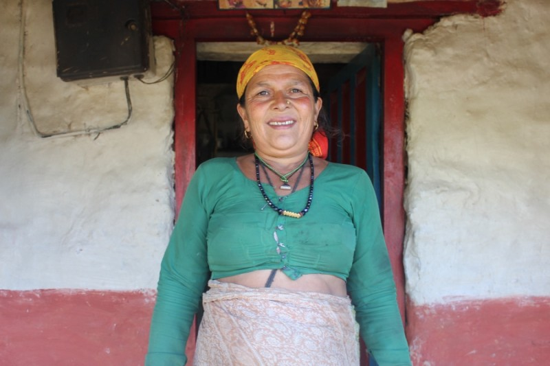 Producer Laura Spero has lived with this woman — whom she calls Aamaa —in the Nepali village of Kaskikot for much of the past 12 years. Credit: Laura Spero. Used with PRI's permission
