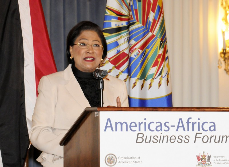 Mrs. Kamla Persad - Bissessar, former Prime Minister, Trinidad and Tobago; photo by OEA - OAS, used under a CC BY-NC-ND 2.0 license.