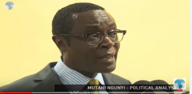 A screenshot of a YouTube video of Kenyan political analyst Mutahi Ngunyi.