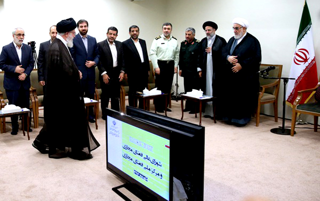 On September 5, 2015, Ayatollah Ali Khamenei re-appointed the members of the Supreme Council of Cyberspace for another four-year term. Image from ICHRI.