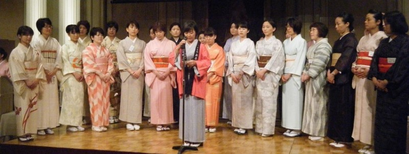 Women toji - master brewers - at the 2014 'Kura Josei Summit,' the Japanese Women's Sake Industry Group. Credit: Courtesy Japanese Women's Sake Industry Group. Used with PRI's permission