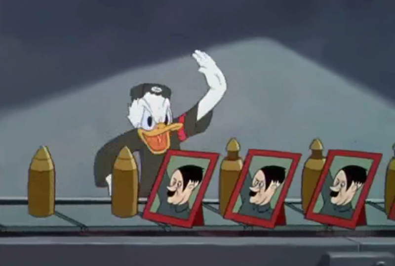 "Screen capture: Walt Disney, ""Der Fuehrer's Face"" (1942) / YouTube"
