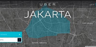 Uber Jakarta map