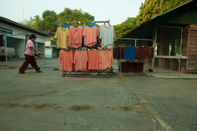 Laundry hangs at the Women's Vocational Training Center in Chiang Mai. Credit: Anne Bailey. Used with PRI's permission
