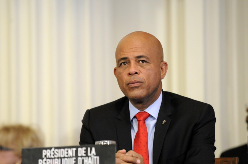 Michel Martelly, President of Haiti; image by OEA - OAS, photo credit Juan Manuel Herrera/OAS, used under a CC BY-NC-ND 2.0 license.