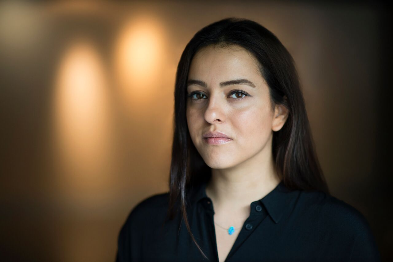 Portrait of Newsha Tavakolian taken for the Prince Claus Fund by Frank van Beek. Image provided by the Prince Claus Fund and used with permission.