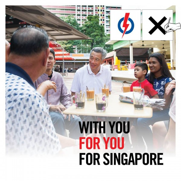 Singapore Prime Minister Lee Hsien Loong meets with constituents. Photo from the Facebook page of People's Action Party