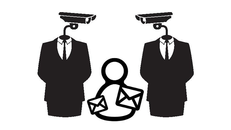 Российский суд решил, что нацеленная реклама Google нарушает права пользователей на частную переписку. Изображения: Email Martha Ormiston и видеонаблюдение Ji Lee от Noun Project. Обработано Татьяной Локоть.