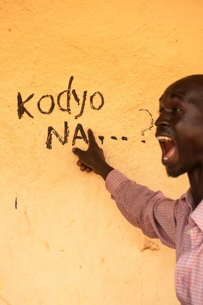 'Kodyo na…?' is Kawa, the local language of the areas of Yei and Morobo. It can be translated into 'What about me?!' Yei. Photo: Pernille Bærendtsen