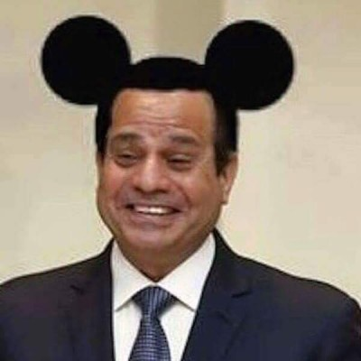 This photoshopped photograph of Egyptian president Abdelfattah El Sisi in Mickey Mouse ears has landed Facebook user Amr Nohan to three years in prison, according to reports